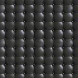 τετραγωνική κομψή σκούρο γκρι σύσταση δέρματος με τα κουμπιά για το backgr Στοκ εικόνα με δικαίωμα ελεύθερης χρήσης