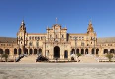 Τετραγωνική μετωπική άποψη της Ισπανίας Στοκ εικόνα με δικαίωμα ελεύθερης χρήσης