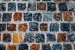 Τετραγωνική πέτρινη επίστρωση Στοκ φωτογραφία με δικαίωμα ελεύθερης χρήσης