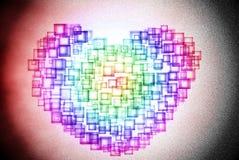 Τετραγωνική περίληψη καρδιών Στοκ Φωτογραφία