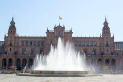Τετραγωνική πηγή της Ισπανίας Στοκ φωτογραφίες με δικαίωμα ελεύθερης χρήσης