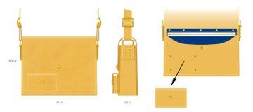 Τετραγωνική τσάντα απεικόνιση αποθεμάτων