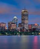 τετραγωνική όψη νύχτας s copley της Βοστώνης Στοκ Εικόνες
