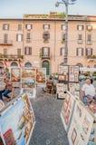 Τετραγωνικοί καλλιτέχνες Navona στοκ φωτογραφίες με δικαίωμα ελεύθερης χρήσης