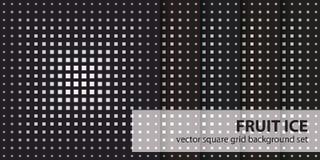 Τετραγωνικός πάγος φρούτων σχεδίων καθορισμένος Διανυσματικά άνευ ραφής γεωμετρικά υπόβαθρα Στοκ φωτογραφίες με δικαίωμα ελεύθερης χρήσης