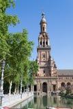 Τετραγωνικός πύργος της Ισπανίας Στοκ φωτογραφία με δικαίωμα ελεύθερης χρήσης
