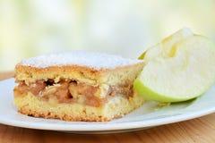 Τετραγωνικός φραγμός πιτών της Apple με την κανέλα και την τροφοδοτημένη ζάχαρη Στοκ Εικόνα