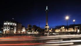 τετραγωνικός trafalgar νύχτας Στοκ εικόνα με δικαίωμα ελεύθερης χρήσης