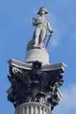 τετραγωνικός trafalgar της Αγγλίας Λονδίνο Nelson στηλών Στοκ Εικόνες