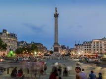 τετραγωνικός trafalgar του Λονδίνου Στοκ Φωτογραφία