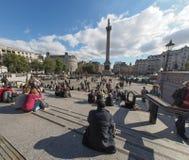 τετραγωνικός trafalgar του Λον&de Στοκ Φωτογραφίες