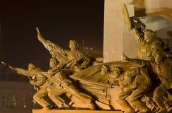 τετραγωνικό άγαλμα mao ηρώων της Κίνας shenyang zhongshan Στοκ Εικόνα