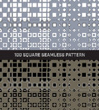 100 τετραγωνικό άνευ ραφής σύνολο σχεδίων Στοκ φωτογραφία με δικαίωμα ελεύθερης χρήσης