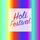 Τετραγωνικό έμβλημα φεστιβάλ Holi Στοκ Φωτογραφίες