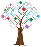 τετραγωνικό δέντρο Στοκ φωτογραφίες με δικαίωμα ελεύθερης χρήσης