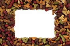 Τετραγωνικό ή ορθογώνιο πλαίσιο των τροφίμων κατοικίδιων ζώων για τη χρήση υποβάθρου Στοκ φωτογραφίες με δικαίωμα ελεύθερης χρήσης