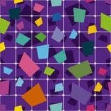 Τετραγωνικό γεωμετρικό αφηρημένο σχέδιο υποβάθρου γεωμετρικός άνευ ραφής α&nu Στοκ Εικόνα