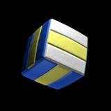 Τετραγωνικό εικονίδιο πετοσφαίρισης στο άσπρο υπόβαθρο Στοκ Φωτογραφίες