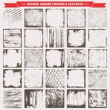 Τετραγωνικό διάνυσμα υποβάθρων πλαισίων Grunge Στοκ Εικόνες