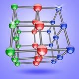 Τετραγωνικό δικτυωτό πλέγμα κρυστάλλου Στοκ Φωτογραφία