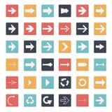 Τετραγωνικό κουμπί βελών Στοκ φωτογραφία με δικαίωμα ελεύθερης χρήσης