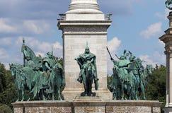 Τετραγωνικό μνημείο Βουδαπέστη ηρώων Στοκ Φωτογραφίες