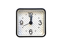 Τετραγωνικό ξυπνητήρι Στοκ εικόνα με δικαίωμα ελεύθερης χρήσης