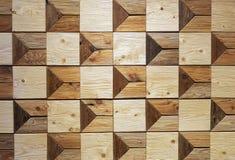 Τετραγωνικό ξύλινο χέρι σχεδίων φραγμών - που γίνεται στον τοίχο Στοκ φωτογραφίες με δικαίωμα ελεύθερης χρήσης