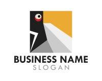 Τετραγωνικό λογότυπο παπαγάλων Στοκ Φωτογραφίες