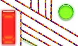 Τετραγωνικό ορθογώνιο κύκλων εμβλημάτων διανυσματική απεικόνιση
