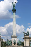 Τετραγωνικό ορόσημο Βουδαπέστη ηρώων Στοκ Εικόνες
