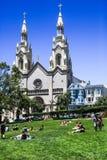Τετραγωνικό πάρκο του Σαν Φρανσίσκο Ουάσιγκτον Στοκ Φωτογραφία