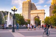 Τετραγωνικό πάρκο NYC της Ουάσιγκτον Στοκ Φωτογραφία