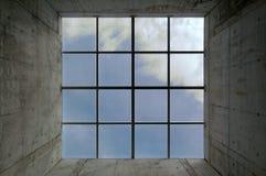 τετραγωνικό παράθυρο στοκ εικόνα