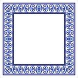 Τετραγωνικό πλαίσιο με ένα μπλε εθνικό hand-drawn σχέδιο απεικόνιση αποθεμάτων