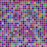 Τετραγωνικό πολύχρωμο υπόβαθρο μωσαϊκών Στοκ Φωτογραφία