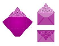 Τετραγωνικό πρότυπο φακέλων περικοπών λέιζερ Στοκ Φωτογραφίες