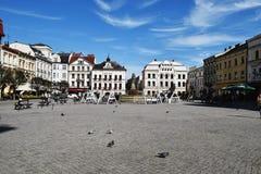 τετραγωνικό πότισμα συστημάτων ψεκαστήρων χορτοταπήτων πόλεων Στοκ φωτογραφία με δικαίωμα ελεύθερης χρήσης