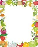 Τετραγωνικό πλαίσιο λαχανικών, με τη θέση για το κείμενο Επίπεδο ύφος η ανασκόπηση απομόνωσε το λευκό Υγιής τρόπος ζωής, vegan Στοκ φωτογραφία με δικαίωμα ελεύθερης χρήσης