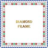Τετραγωνικό πλαίσιο διαμαντιών Στοκ φωτογραφία με δικαίωμα ελεύθερης χρήσης