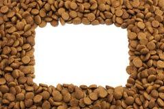 Τετραγωνικό πλαίσιο των τροφίμων κατοικίδιων ζώων (σκυλί ή γάτα) για το backgro Στοκ Εικόνα