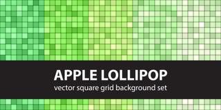 Τετραγωνικό σχέδιο η καθορισμένη Apple Lollipop Διανυσματική άνευ ραφής γεωμετρική ΤΣΕ Στοκ Εικόνες