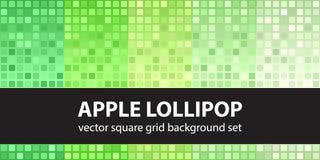 Τετραγωνικό σχέδιο η καθορισμένη Apple Lollipop Στοκ εικόνα με δικαίωμα ελεύθερης χρήσης