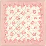 Τετραγωνικό σχέδιο ταπετσαριών προσθηκών Floral Στοκ φωτογραφία με δικαίωμα ελεύθερης χρήσης