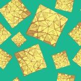 Τετραγωνικό σχέδιο τριγώνων Στοκ φωτογραφία με δικαίωμα ελεύθερης χρήσης