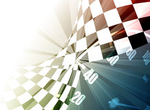 Τετραγωνικό υπόβαθρο αγώνα, διανυσματική απεικόνιση Στοκ Εικόνες