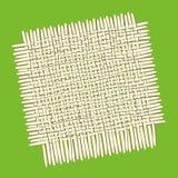 Τετραγωνικό χαλί μπαμπού ελεύθερη απεικόνιση δικαιώματος