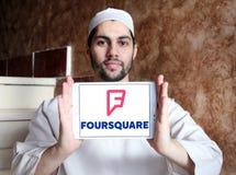 Τετραγωνικό app λογότυπο Στοκ φωτογραφία με δικαίωμα ελεύθερης χρήσης