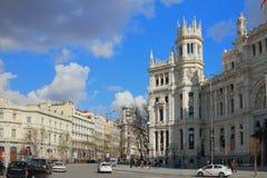 Τετραγωνικό Sibeles (Plaza de Λα Cibeles) Μαδρίτη Ισπανία Στοκ Εικόνα