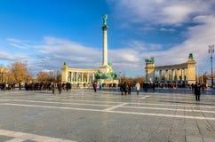 τετραγωνικό tere της Ουγγαρίας ηρώων της Βουδαπέστης hosok Στοκ φωτογραφίες με δικαίωμα ελεύθερης χρήσης